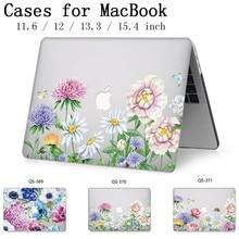 Caixa do portátil Para Apple Macbook 13.3 15.6 Polegada 11 12 13 Quente Para MacBook Air Pro Retina 15.4 Com Tela protetor de Teclado Enseada