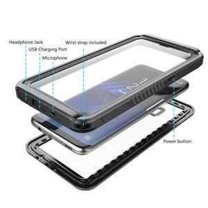 Image 5 - CASEWIN 삼성 갤럭시 S8 케이스 IP68 방수 360 학위 보호 수중 커버 S8 케이스 투명