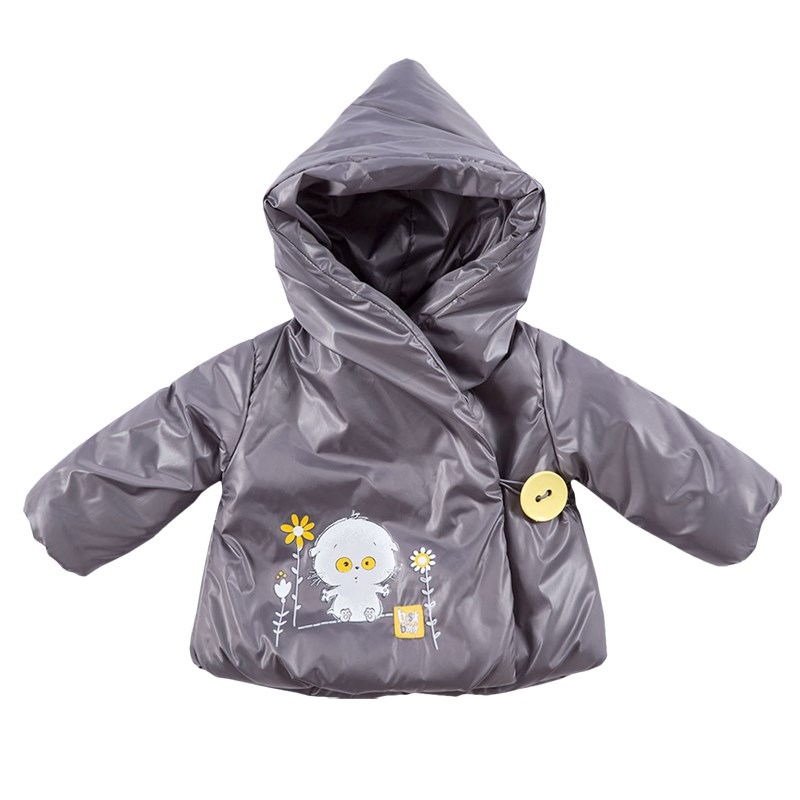 Basik Kids Jacket with smell dark gray lacquer kids clothes children clothing basik kids jacket bomber jacket yellow kids clothes children clothing