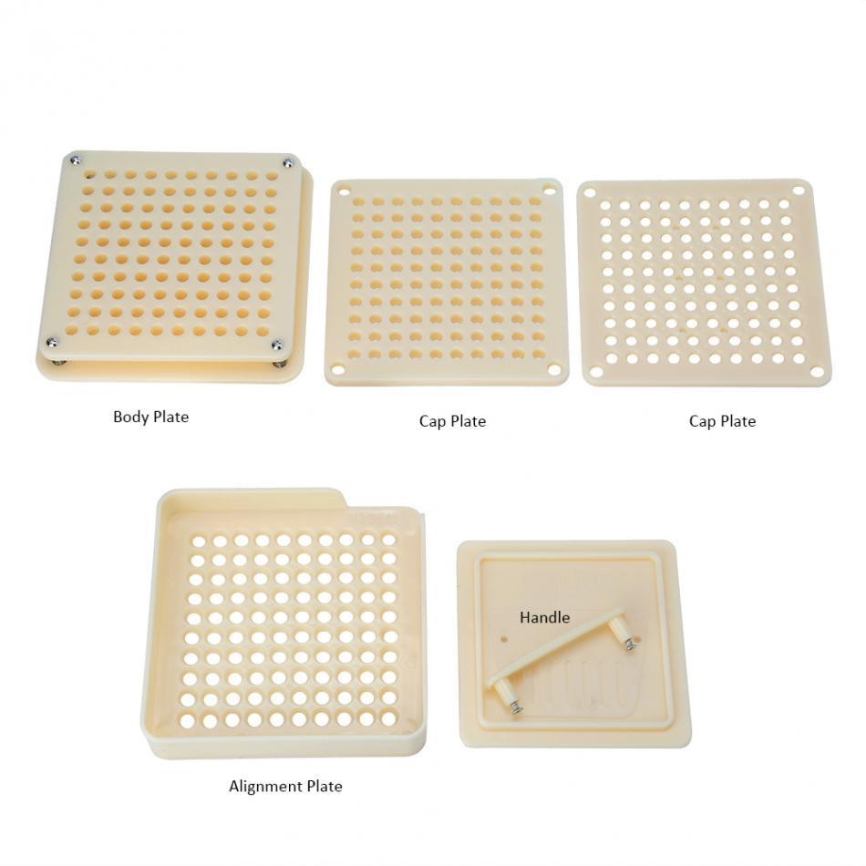 Image 4 - 100Holes Plastic Manual Capsule Filler Size 0# 1# Capsule Powder Filler Plate Manual Filling Machine Tool For DIY Herbal CapsulePill Cases & Splitters   -
