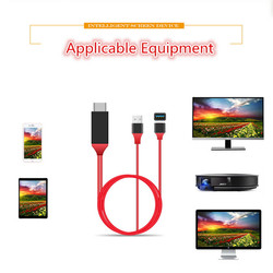kebidumei 1080P TV Stick USB Female to HDMI Male with USB Power 1m Wired Mirroring Screen for IOS for Android Cable Common