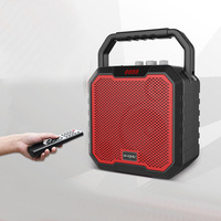 С микрофоном 6,5 дюймов высокой мощности наружные Громкоговорители для караоке Беспроводные Bluetooth AUX USB TF плеер fm радио с возможностью переза