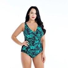 8XL Plus Size  Swimsuit Women One Piece 2019 Push Up Swimwear Girl Dress Bathing Suit Large Swim Maillot De Bain Maio