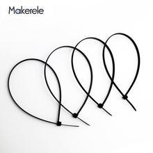 100 шт/пакет нейлоновые кабельные стяжки самоблокирующиеся пластиковые