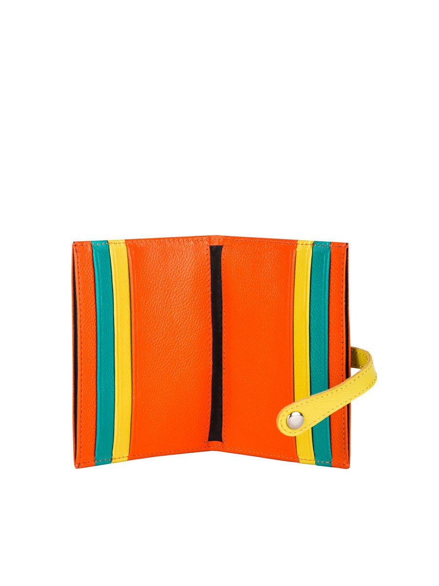 Credit Card Cases women K.28.CH. Grapefruit realer wallets for women genuine leather long purse female clutch with wristlet strap bifold credit card holders rfid blocking