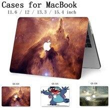 노트북 가방 케이스 macbook air pro retina 11 12 13 15.4 macbook 13.3 용 15.6 인치 화면 보호기 키보드 코브 선물