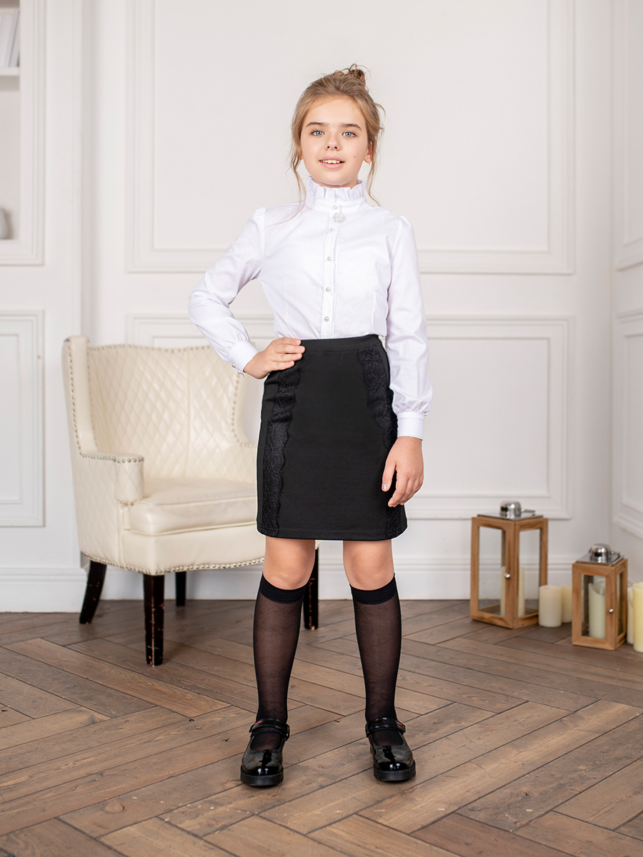 Blouse clothing for girls self tie solid blouse