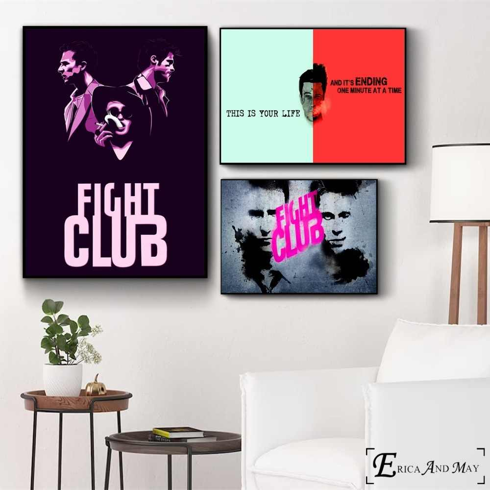 Fight Club Classic Movie Artwork Poster And Print Canvas Art Painting Wall Pictures For Bedroom Decoration Home Decor No Framed