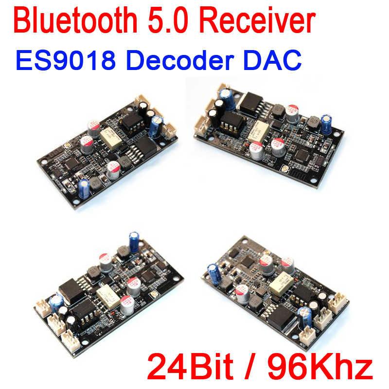 Kablosuz bluetooth 5.0 Alıcı Kurulu W ES9018 Dekoder DAC I2S Kurulu Anten AUX diy güç amplifikatörü 24Bit/96 Khz 12 V 24 V