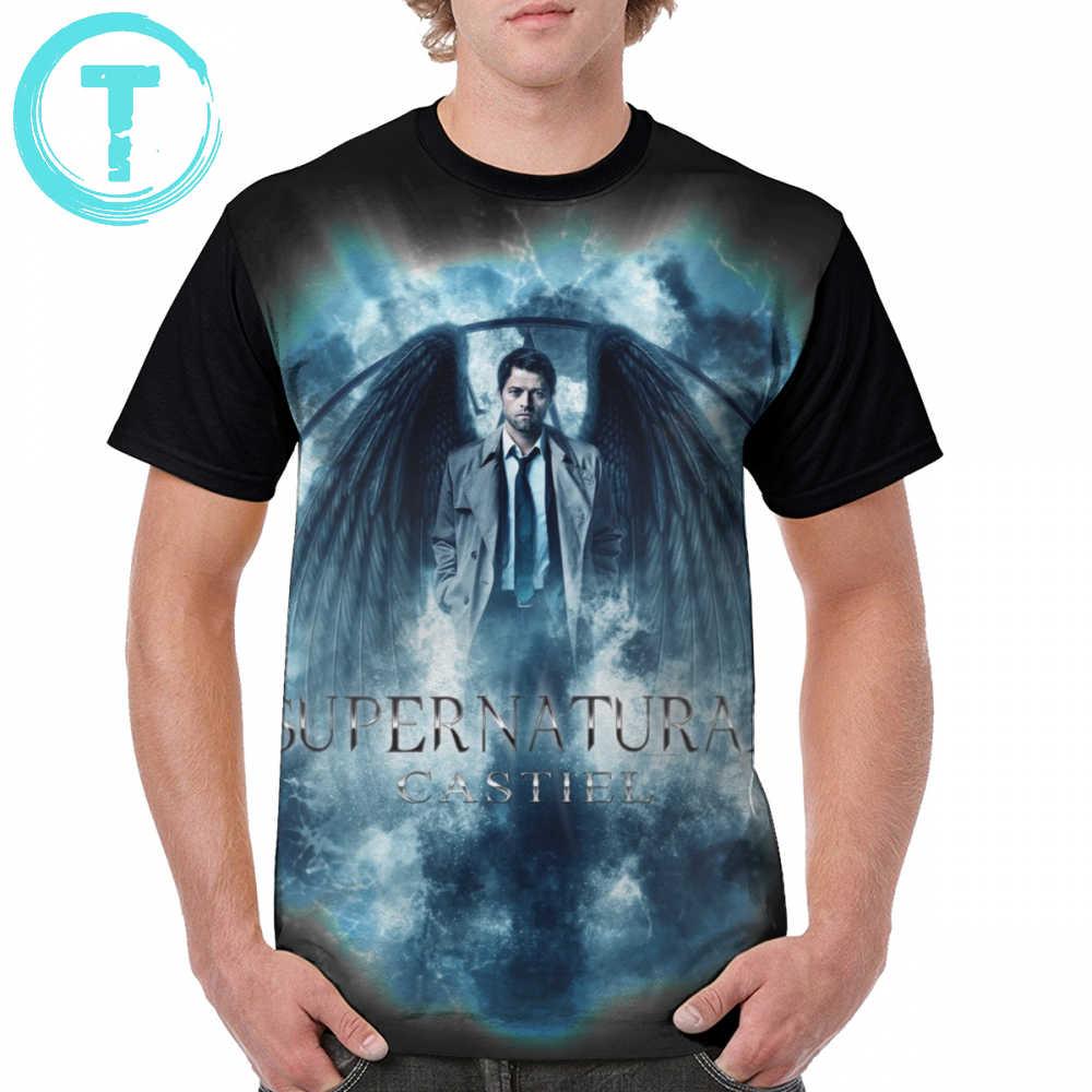 0a55467d7 Supernatural T Shirt Supernatural Castiel Storm T-Shirt Short Sleeves Printed  Graphic Tee Shirt 100