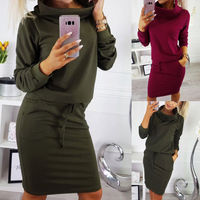 Sheath Belt Casual Long Bodycon Midi 3/4 Dress Sleeve Career Women Long Sleeve Casual Office Career Midi Sheath Belt Dress