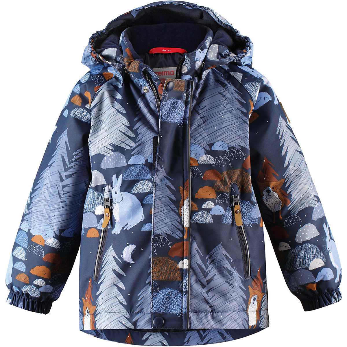 REIMA Jackets 8665397 for boys polyester winter  fur clothes boy reima jackets 8688821 for boys polyester winter fur clothes boy