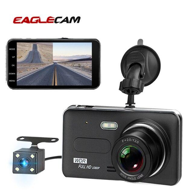 Auto Dvr Kamera 4,0 Inch Bildschirm Full HD 1080P Dual Objektiv mit Rückansicht Dashcam Auto Kanzler Auto Video recorder DVRs Camcorder