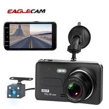 Kamera samochodowa 4.0 Cal ekran Full HD 1080P podwójny obiektyw z widokiem z tyłu Dashcam Auto rejestrator samochodowy rejestrator wideo DVRs kamera