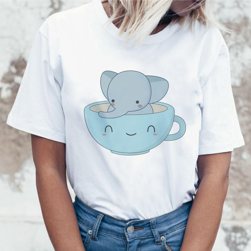 Cat Hippie Humour Women Top Casual Graphic Tshirt T Shirt Design Meme Technology Summer Tee Roses Movie Female T-shirt