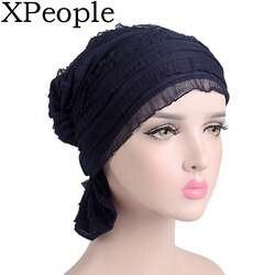 Тюрбан в кружевная ткань шапки Хемо Рак Шапки для Для женщин