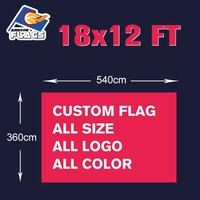 18x12FT Custom Banners 540x360cm Free Design Customize Flags LGBT Flag 100D Polyester 360x240cm 12x8FT 2018