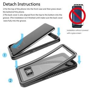 Image 5 - Casewin Voor Samsung Galaxy S8 Case IP68 Waterdicht 360 Graden Bescherming Onderwater Cover Voor Samsung Galaxy S8 Case Transparant