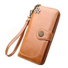 Vintage Style Premium Wallet Long Solid High Quality Nylon Zipper Handbags