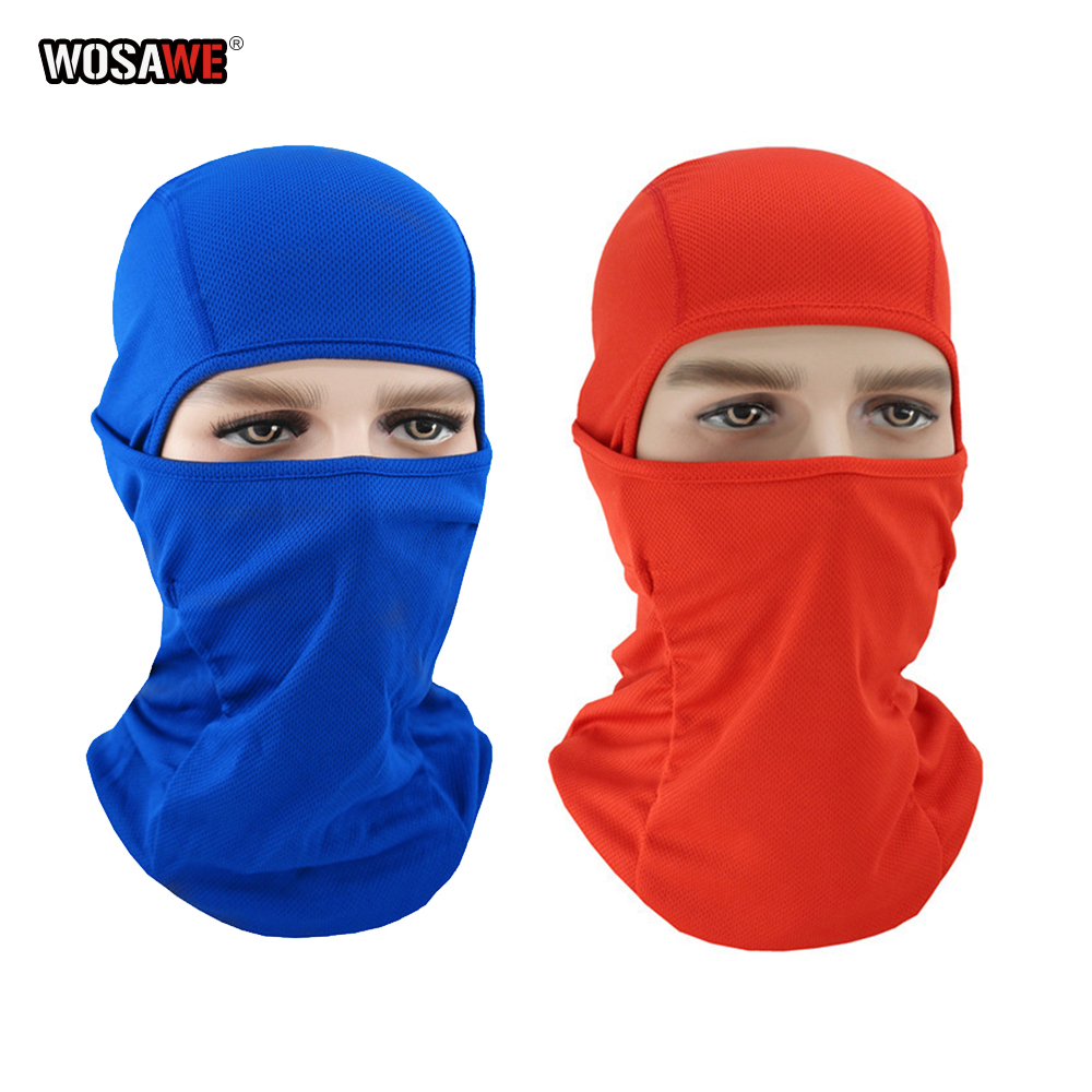 Image 5 - WOSAWE Motorcycle Balaclava Full Face Mask Breathable Airsoft Paintball Cycling Ski Shield Anti UV Men Sun Hats inside Helmet-in Protective Gears Accessories from Automobiles & Motorcycles