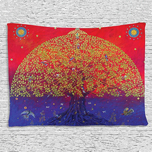 Loartee Psychedelic Tree Forest Color Art Boho Décor Magic Mandala Tapestry Indian Witchcraft Pared tela Arras Wandkleed