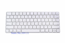 US Layout Silicone Magic Keyboard Protector Cover skin for iMac PC Computer English Letter Magic 2 Bluetooth Keyboard Cover 2017