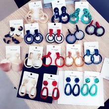 Fashion Multistyle Acetate Geometric Earrings For Women Exaggeration Boho Acrylic Drop Resin Hook Jewelry