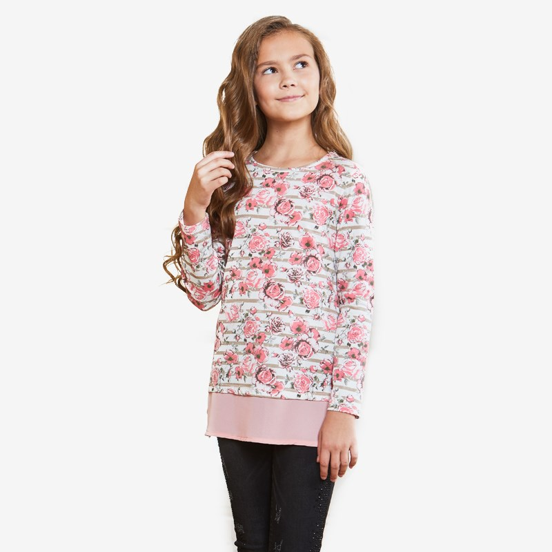 T-shirt knitted long sleeve for girls