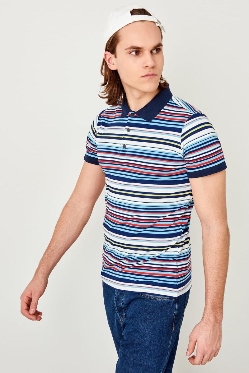 Trendyol Blau Gestreiften Polo Kragen T-shirt Tmnss19hd0027 Buy One Give One