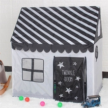 цены на Play Tent Toy Portable Foldable Ball Pool Pit Indoor Outdoor Simulation House Black And White Tent Gifts Toys For Kids  в интернет-магазинах