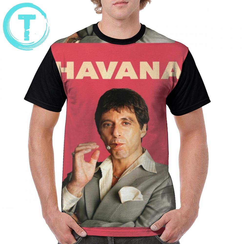 Tony Montana T Shirt Al Pacino - Havana T-Shirt Short Sleeve Print Graphic Tee Mens 100 Polyester XXX Cute Casual Tshirt
