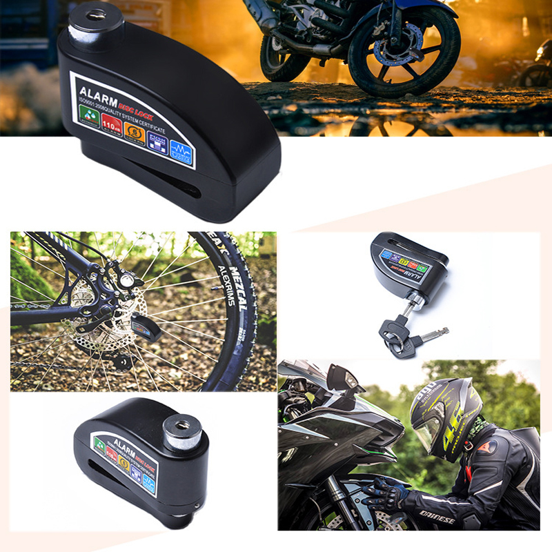 1pcs 110DB Motorcycle Anti-theft Lock Motorcycle Disc Brake Anti-theft Lock Motorcycle Super B-class Lock Core Anti-theft Lock