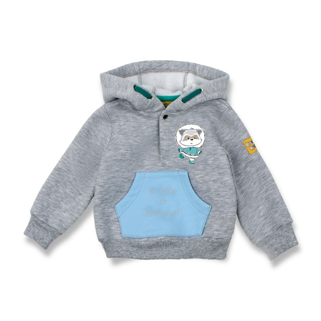 Basik Kids Blouse Sweatshirt gray melange kids clothes children clothing basik kids blouse sweatshirt gray with pocket kids clothes children clothing