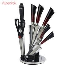 Набор ножей Alpenkok на акриловой подставке 8 пр. (нерж.сталь)