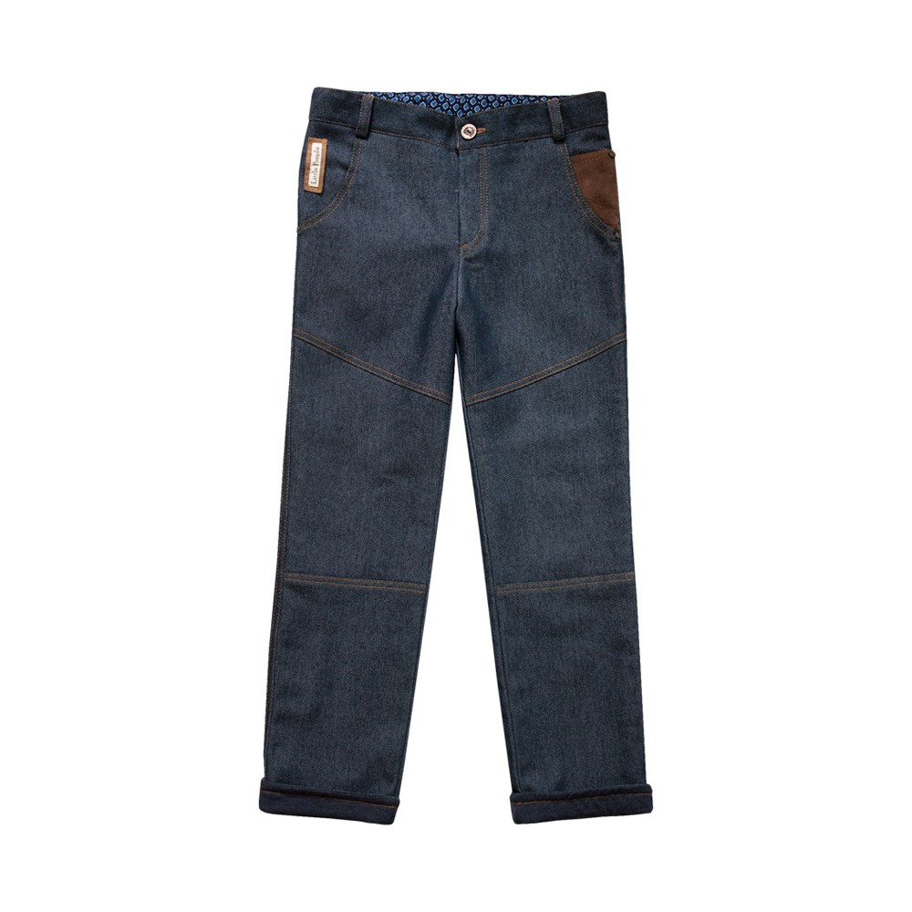 Little People 36114 denim pants Outing M No. (092) bleached ripped pockets denim pants