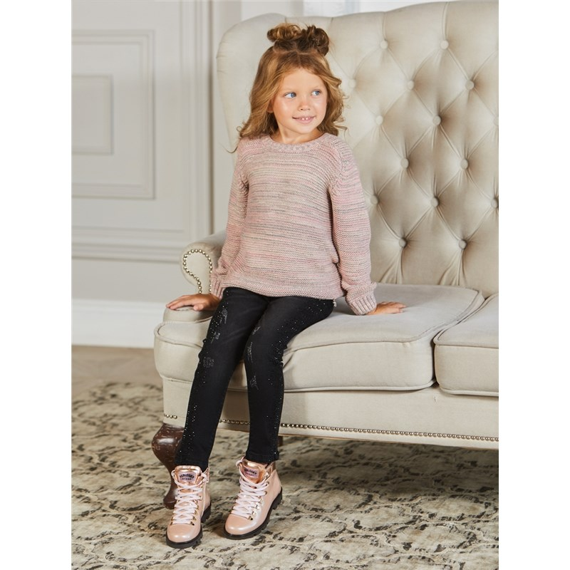 Jeans Sweet Berry Denim pants for girlss kid clothes zip fly ripped denim cropped pants for men