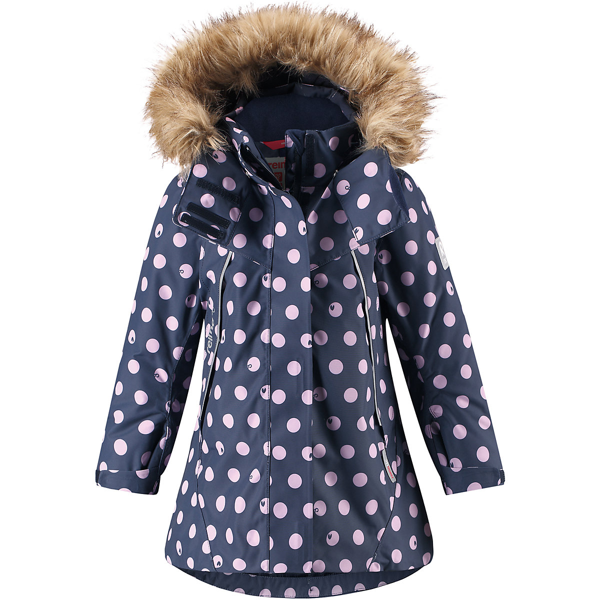 REIMA Jackets 8665390 for girls polyester winter  fur clothes girl jackets