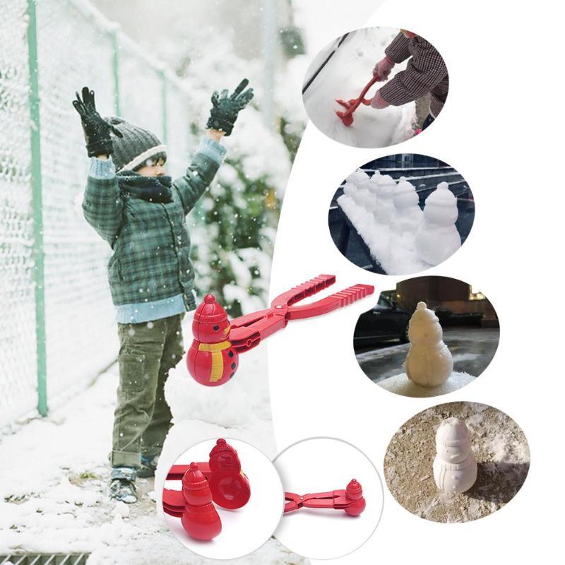 1 шт., снежный шар, зимний снеговик, снежный шар, Детские уличные игрушки, Снежный шар, Песочная форма, игрушки для детей, Рождественская игра