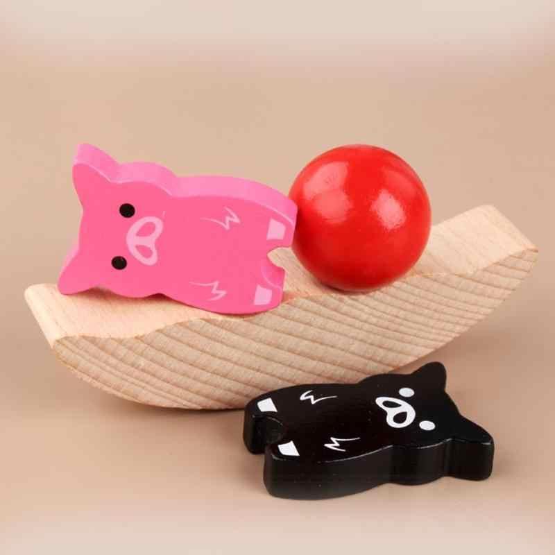 Trẻ Em Phát Triển Khối Gỗ Montessori Giảng Toysmoon Cân Bằng Khung Bé Đầu Học Tập Đồ Chơi Nhiều Màu Sắc Động Vật