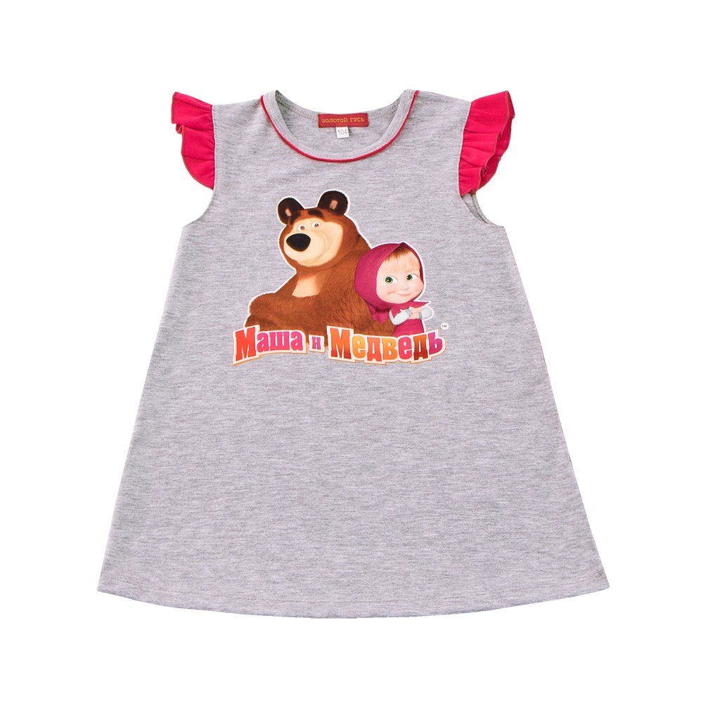 Masha and Bear Dress with wings gray melange M masha and bear dress long sleeve m