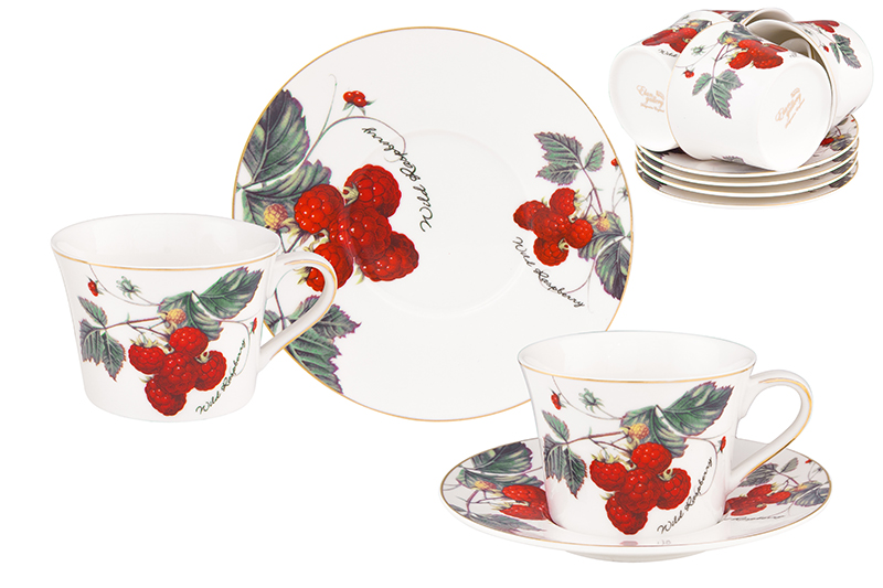 Available from 10.11Tea set Berry - Raspberry 12 items Elan Gallery 730610