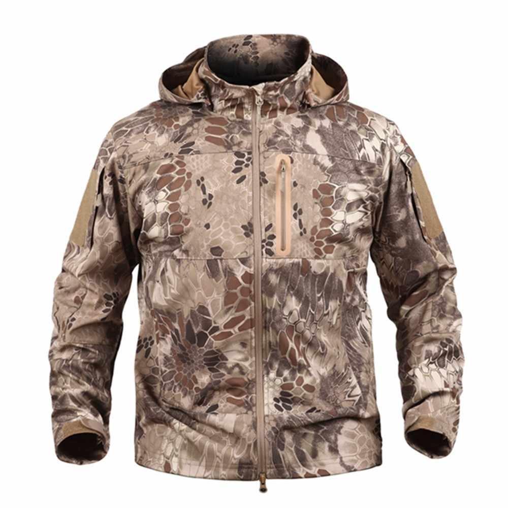 アップグレード戦術男性シャークスキンウインドブレーカー屋外ソフトシェル防水防風服男性キャンプハイキングトレッキングジャケット