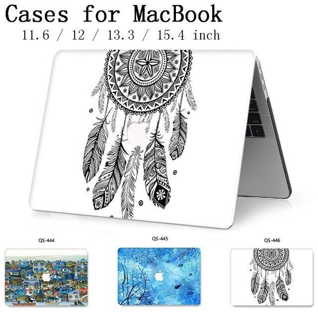 새로운 핫 맥북 에어 프로 레티 나 11 12 13 15 애플 노트북 케이스 가방 13.3 15.4 인치 화면 보호기 키보드 코브 tas