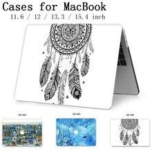 Novo Hot Para MacBook Air Pro Retina 11 12 13 15 Para Apple Caso Laptop Saco 13.3 15.4 Polegada Com protetor de tela Teclado Enseada tas