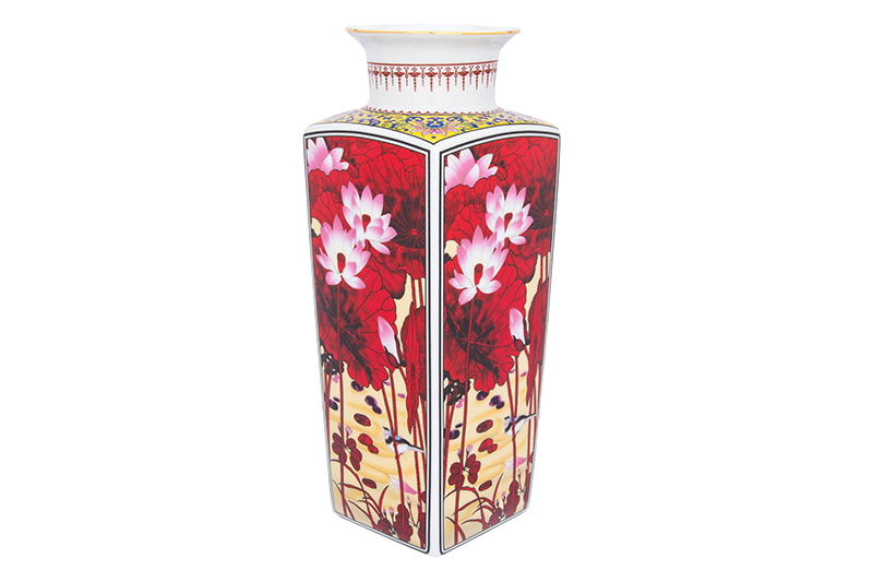 Available from 10.11Vase 12 * 12 * 30 cm. 2.6 liters. Lotus Flower round neck Elan Gallery 501921