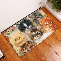 Decoruhome в передней входной двери  цвет  Милый Забавный котенок  Мультяшные ковры  Детские спальные ножные подушечки для ног  Декор  коврик