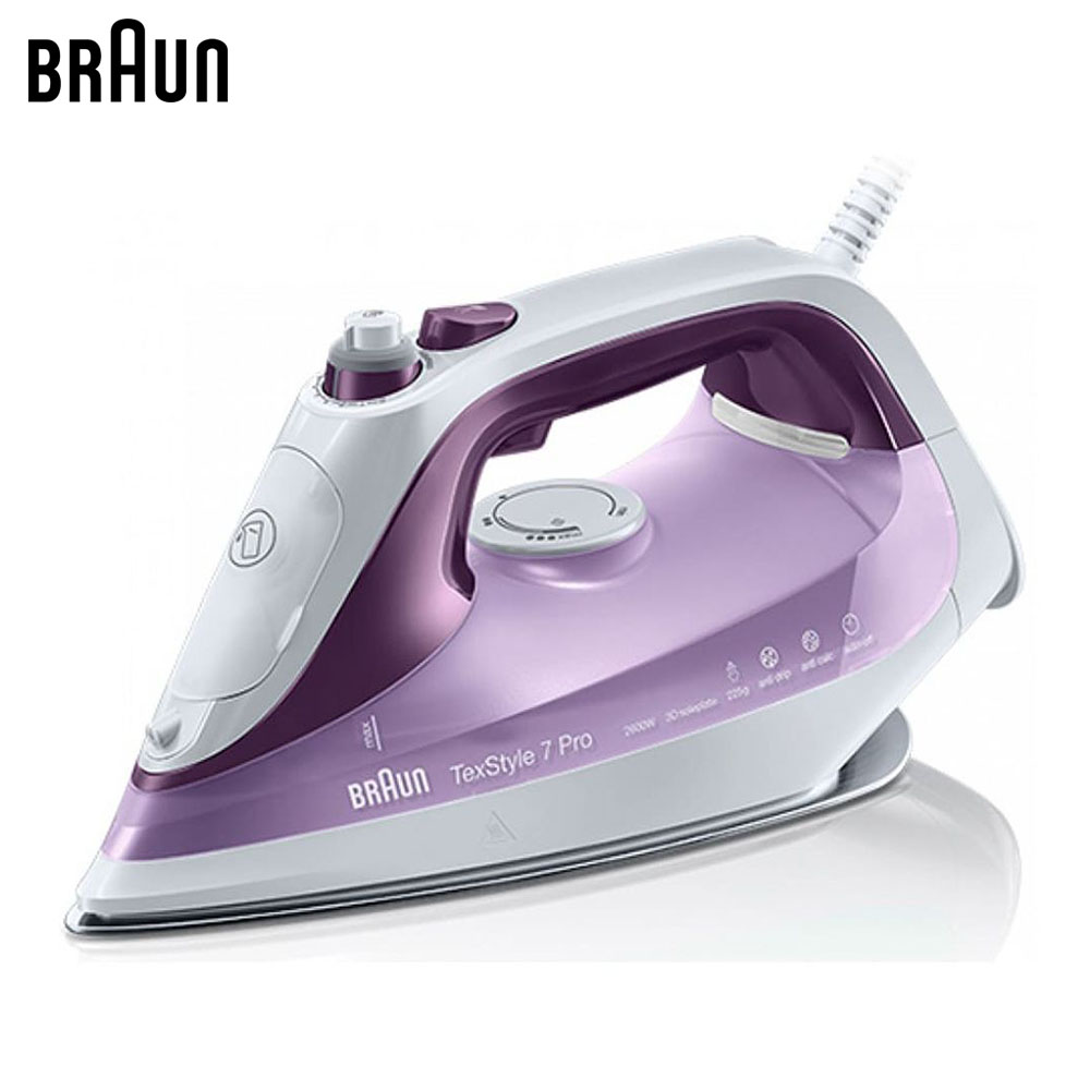 Electric Irons Braun TexStyle 7 SI7066 VI steam iron steamer electric irons braun texstyle 5 ts535 tp steam iron steamer