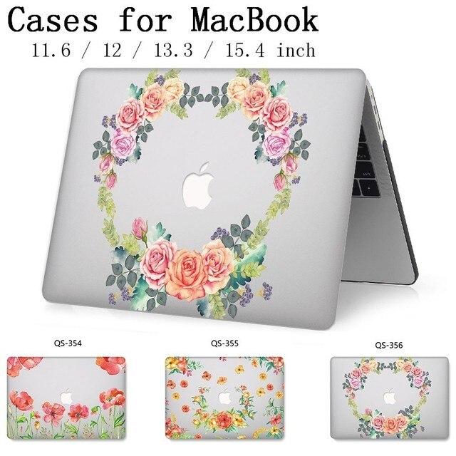 새로운 핫 노트북 케이스 13.3 15.6 인치 Macbook Air Pro Retina 11 12 13 15.4 화면 보호기 키보드 코브 선물