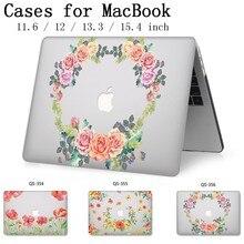 Nueva funda para ordenador portátil para Macbook 13,3 de 15,6 pulgadas para Macbook Air Pro Retina 11 12 13 15,4 con Protector de pantalla teclado Cove regalo