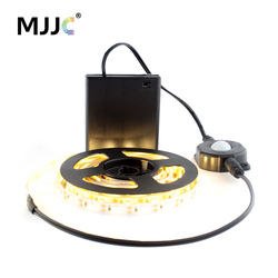 LED Tape Battery Operated Stripe Lights 50CM 1M 2M SMD 3528 Ribbon LED Strip Lights with Motion Sensor for Night Lamp